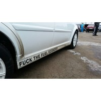 Накладки на пороги Chevrolet Lacetti GM