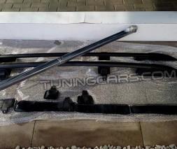Рейлинги Niva Chevrolet усиленные аэродинамические (черные)