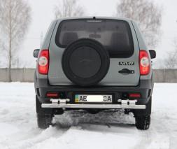 Задняя защита Chevrolet Niva (Bertone) [2006+] AK015