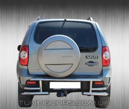 Защита заднего бампера для Chevrolet Niva (2010+) Bertone CVNV.10.B1-10M d60мм x 1.6