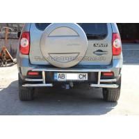 Защита заднего бампера для Chevrolet Niva (2009-2016) CVNV.10.B1-10M d60мм x 1.6