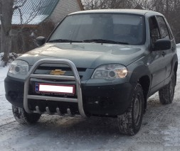 Кенгурятник Chevrolet Niva (Bertone) QT007 (Nero)