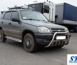 Кенгурятник Chevrolet Niva (Bertone) WT004 (с надписью)