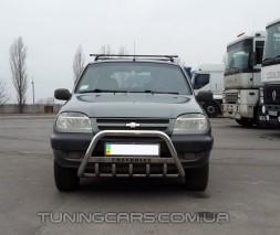 Передняя защита кенгурятник Chevrolet Niva (02-09) CVNV.02.F1-09