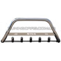 Защита переднего бампера для Chevrolet Niva (2010+) Bertone CVNV.10.F1-09 d60мм x 1.6