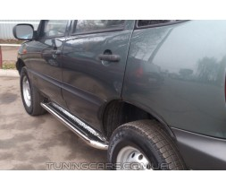 Пороги площадка для Chevrolet Niva (2002-2009) CVNV.02.S2-01 d60мм x 1.6