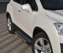 Пороги Chevrolet Trax [2013+] AB004 (Artemis Silver)