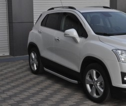 Пороги Chevrolet Trax [2013+] NS001 (Newstar Grey)