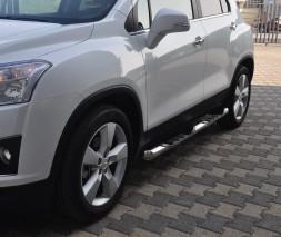 Пороги Chevrolet Trax [2013+] TT002 (Dragos)