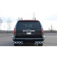 Защита заднего бампера для Cadillac Escalade GMT 900 (2007-2014) CDES.07.B1-41 d60мм x 1.6