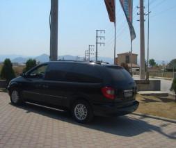 Пороги Chrysler Voyager [1996-2006] EB002 (Elegance Black)