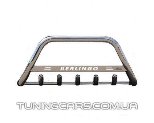 Защита переднего бампера для Citroen Berlingo (2008+) CTBL.08.F1-09 d60мм x 1.6