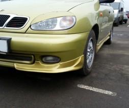 Накладка на передний бампер Daewoo Lanos (куски  передние)