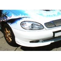 Накладка на передний бампер Daewoo Lanos (куски)