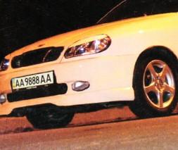 Накладка на передний бампер Daewoo Lanos New