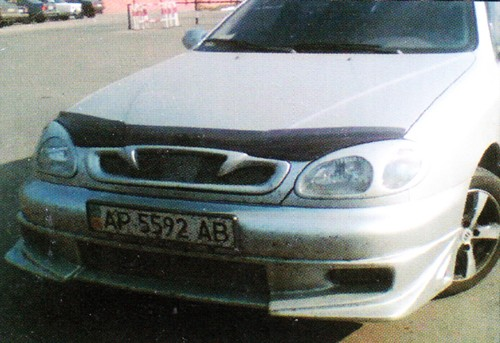 Накладка на передний бампер Daewoo Lanos (цельная)