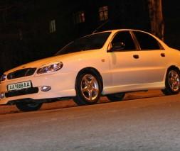 Накладка на передний бампер Daewoo Lanos Спорт