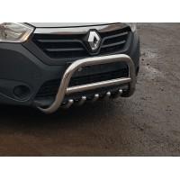 Защита переднего бампера для Dacia Dokker (2012+) DCDK.12.F1-03M d60мм x 1.6