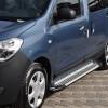 Пороги Dacia/Renault Dokker (2012+) AB004 Artemis Silver