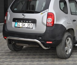 "Задняя защита Dacia/Renault Duster [2010+] AK007 ""Moon"""