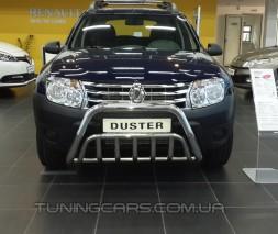 Защита переднего бампера для Dacia Duster (2010+) DCDS.10.F1-02 d60мм x 1.6