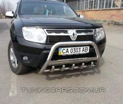 Защита переднего бампера для Dacia Duster (2010+) DCDS.10.F1-09 d60мм x 1.6