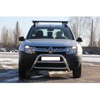 Защита переднего бампера для Dacia Duster (2010+) DCDS.10.F1-16 d60мм x 1.6