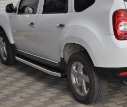 Пороги Dacia/Renault Duster [2010+] NS001 (Newstar Grey)