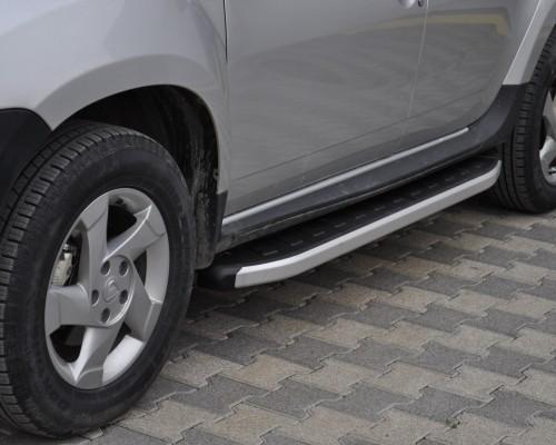 Пороги Dacia/Renault Duster [2010+] NS001 (Newstar Grey)