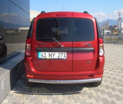 Задняя защита Dacia Logan MCV [2005+] AK002 (Merkur)