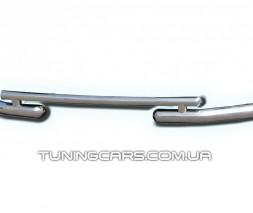 Защита переднего бампера для Dacia Logan (2014+) DCLG.14.F3-07 d60мм x 1.6