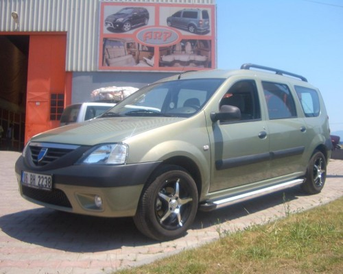 Пороги Dacia Logan MCV EB001 (Elegance Silver)