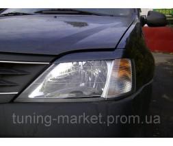 Накладки на фары (реснички) Dacia Logan, Дача Логан