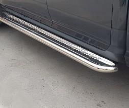 Пороги площадка для Dodge Ram 1500 (2002-2009) DDRM.02.S2-01 d60мм x 1.6