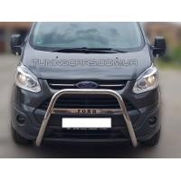 Защита переднего бампера для Ford Transit Custom (2012+) FDCT.12.F1-54 d60мм x 1.6