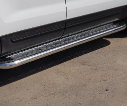 Пороги площадка для Ford Explorer (2014+) FDER.10.14.S2-05 d60мм x 1.6