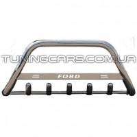 Защита переднего бампера для Ford Kuga (2013+) FDKG.13.F1-09 d60мм x 1.6
