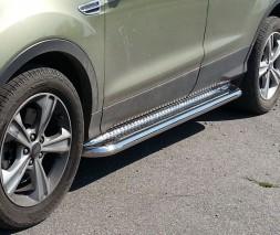 Пороги площадка для Ford Kuga (2013+) FDKG.13.S2-01 d60мм x 1.6