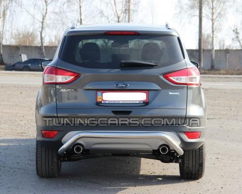 Защита заднего бампера для Ford Kuga (2008-2012) FDKG.08.B1-19 d60мм x 1.6