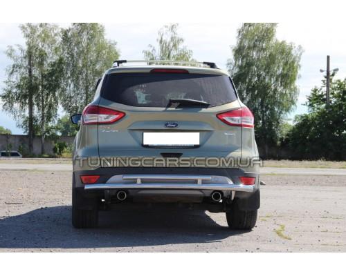 Защита заднего бампера для Ford Kuga (2013+) FDKG.13.B1-03 d60мм x 1.6