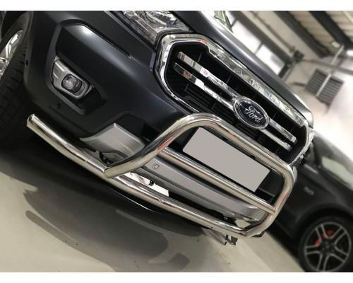 Защита переднего бампера для Ford Ranger (2015+) FDRG.15.F3-36 d60мм x 1.6