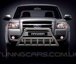 Защита переднего бампера для Ford Ranger (2006-2012) FDRG.06.F1-02 d60мм x 1.6