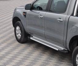 Пороги Ford Ranger AB004 (Artemis Silver)