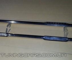 Пороги трубы с накладками Fiat Doblo (04 - 09) FTDB.04.S1-02S
