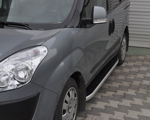 Пороги Fiat Doblo NS001 (Newstar Grey)