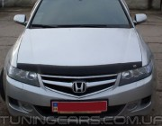 Дефлектор капота (мухобойка) HONDA Accord VII с 2002-2006 с молдингом, (Хонда аккорд)