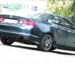 Накладка на задний бампер Honda Accord 7 рестаил Mugen