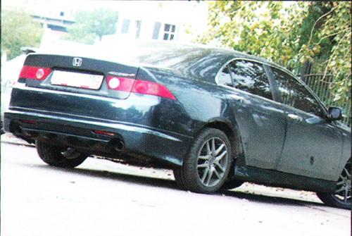 "Накладка на задний бампер Honda Accord ""Mugen"""