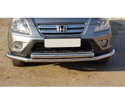 Защита переднего бампера для Honda CR-V (2001-2006) HDCR.01.F3-10 d60мм x 1.6