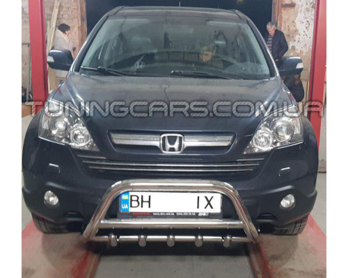 Защита переднего бампера для Honda CR-V  (2006-2010) HDCR.06.F1-03M d60мм x 1.6